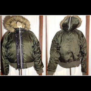 Junior's Nike Hooded Bomber Jacket